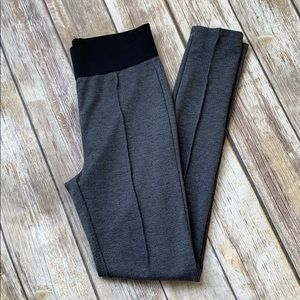 Metaphor Gray Leggings with Front Pleat Detail